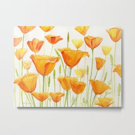 Blossom Poppies Metal Print