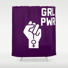 GRL PWR Fist Shower Curtain