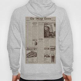 Vintage Newspaper Hoody