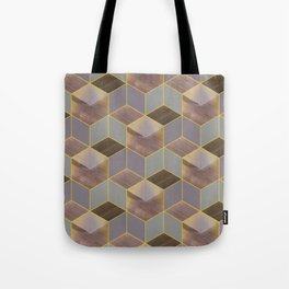 The Cube and the Yellow Light Tote Bag