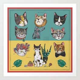 Cats Reunion Art Print