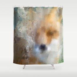 Hideaway Fox Shower Curtain