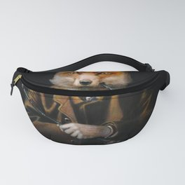 Victorian Fox In Top Hat Fanny Pack
