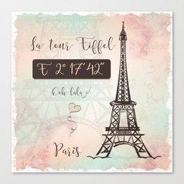 Coordinates Paris Canvas Print