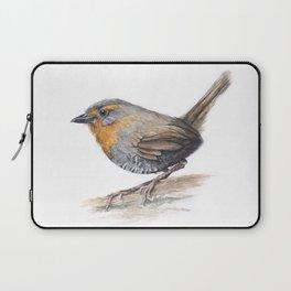 Chucao Bird Watercolor Animal Portrait Laptop Sleeve