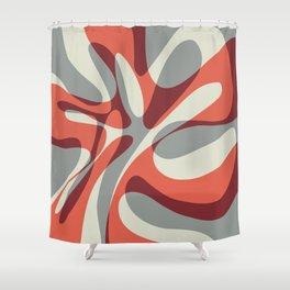 Orange Wave Shower Curtain