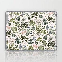 Herbarium ~ vintage inspired botanical art print ~ white Laptop & iPad Skin