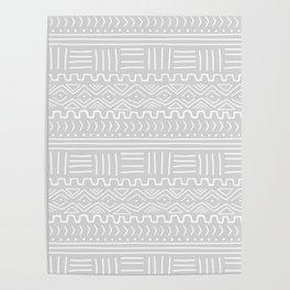 Mud Cloth on Light Gray Poster