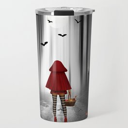 Little Red Riding Hood and the wolf Travel Mug