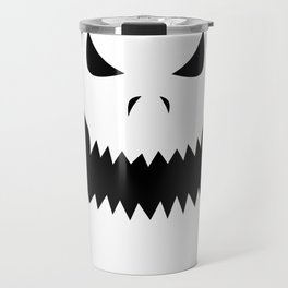 Scary Jack O'Lantern Face Travel Mug
