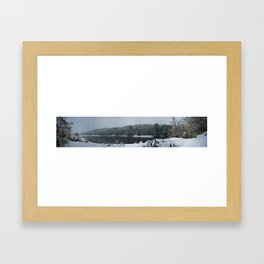 Winter Panorama Framed Art Print
