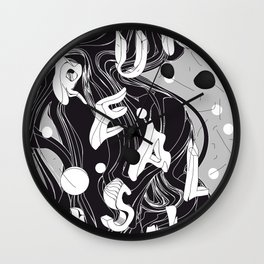 History of Art in Black and White. Surrealism Wall Clock