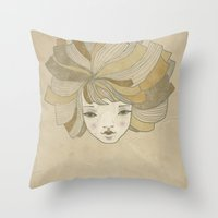 ginger Throw Pillows featuring Ginger by Natalia Ogneva