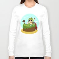 monster hunter Long Sleeve T-shirts featuring Monster Hunter - Felyne and Poogie by tcbunny