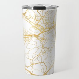 FLORENCE ITALY CITY STREET MAP ART Travel Mug