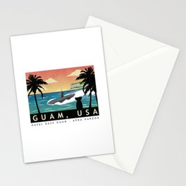 Guam - Retro Submarine Homeport Stationery Cards
