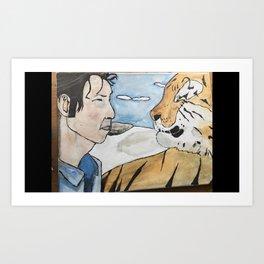 Breen and Tiger Art Print
