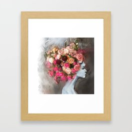 Flower Bloom Girl Framed Art Print