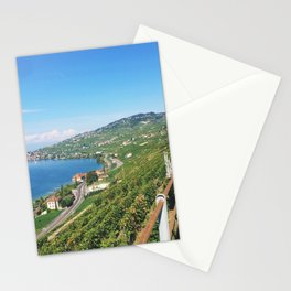 Vineyards of Epesses, Switzerland Stationery Cards