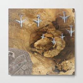 Man Cave (Collage) Metal Print