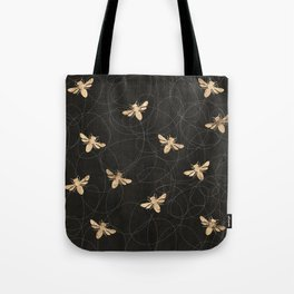 Busy Bees (Black) Tote Bag