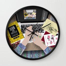 my messy desk Wall Clock