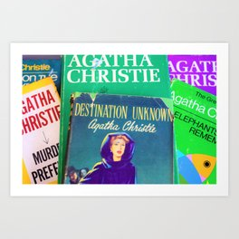 Destination Unknown - Vintage Agatha Christie Art Print