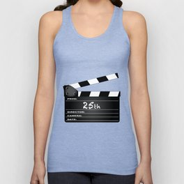 25th Year Clapperboard Unisex Tank Top
