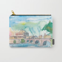 Rome Italy Castel Sant'Angelo Evening with Bridge Carry-All Pouch