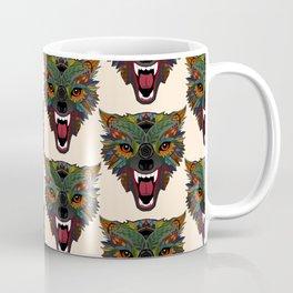 wolf fight flight ecru Coffee Mug