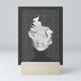 collage art / Faces 2 Mini Art Print