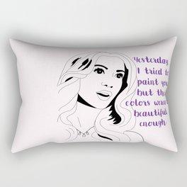 Queen B Quote Rectangular Pillow