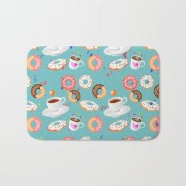 Coffee and Doughnuts Bath Mat