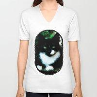 nemo V-neck T-shirts featuring Nemo by Lisiane Dias Reisdörfer