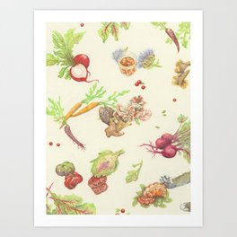 Fall Food Art Print