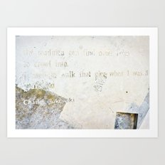 Writing on the Wall [2] Art Print