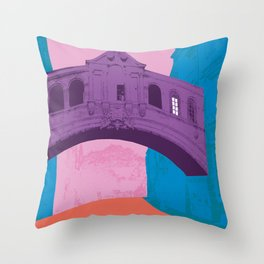 Oxford University : Bridge of sighs Pop colour Throw Pillow