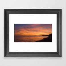 Jurassic Coast Sunset Sky Framed Art Print