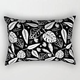 Autumn leaves pattern black Rectangular Pillow