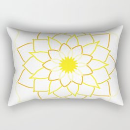 Yellow Mandala Flower Rectangular Pillow