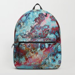 Colorful abstract marble II Backpack