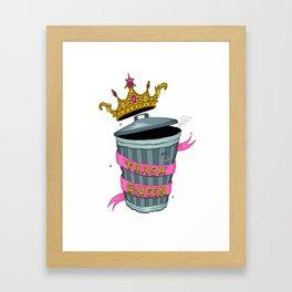 Trash Queen Framed Art Print