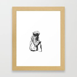 Short Yoda is Framed Art Print