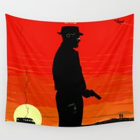 tequila Wall Tapestries featuring Break Bad - Heisenberg by Duke Dastardly