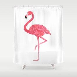 Flamingo fuchsia flap Shower Curtain