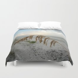 Sunset with Sea Oat Duvet Cover