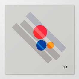 Abstract Suprematism Equilibrium Art Red Blue Yellow Canvas Print