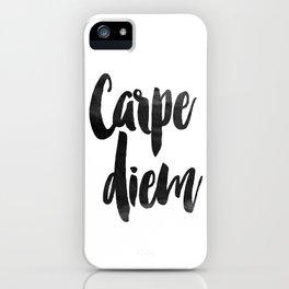 PRINTABLE Instant Download Carpe Diem Print Inspirational Quotes iPhone Case