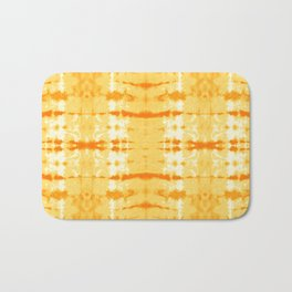 Satin Shibori Yellow Bath Mat