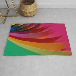 Colorful Modern Rainbow Bright Papers Cool Photo Rug